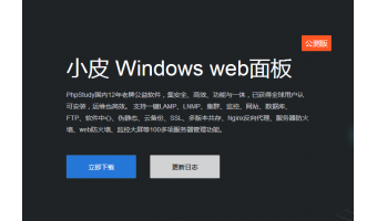 小皮 Windows web面板